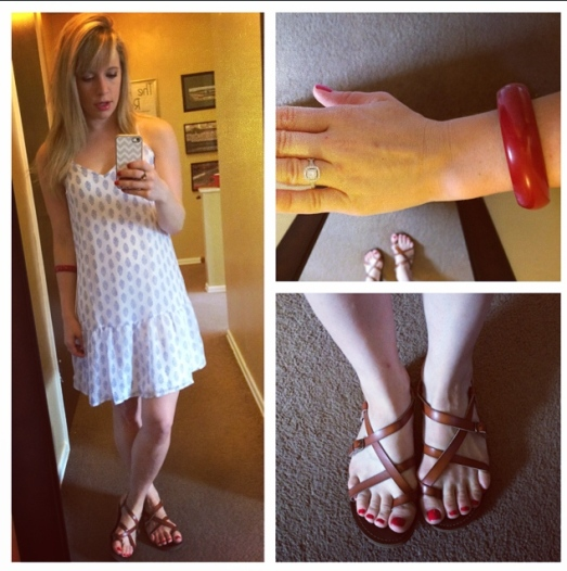 Dress: Old Navy, Sandals: Target, Bracelet: Vintage