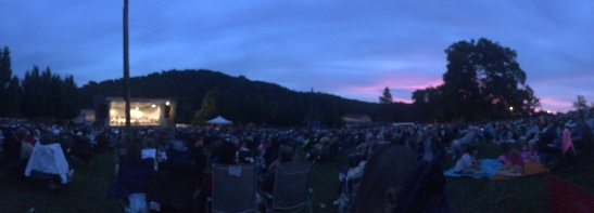 Watching the Pittsburgh Symphony in South Park.