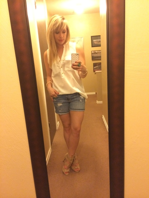 Saturday night: Top & Shorts: Charlotte Russe, Shorts: Old Navy