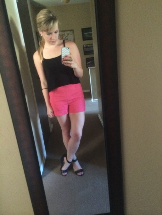 Top: Target, Shorts: H&M, Shoes: Payless
