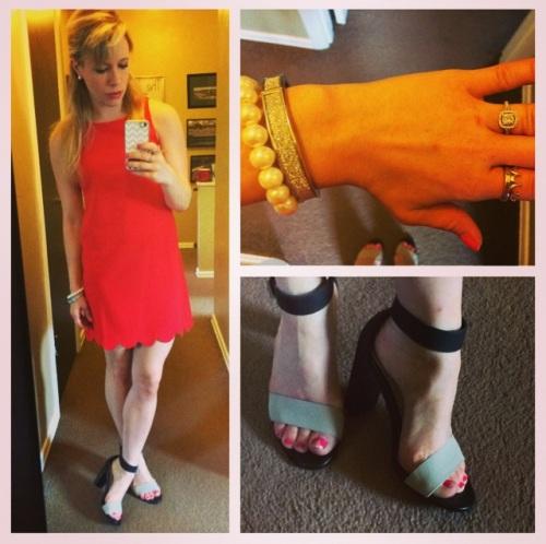 Dress: Marshall's, Shoes: Chinese Laundry via DSW, Bracelets: Francesca's, Ring: Etsy