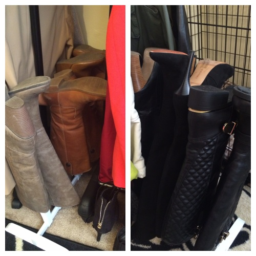 The perfect boot storage. They slide in between the rolling racks.