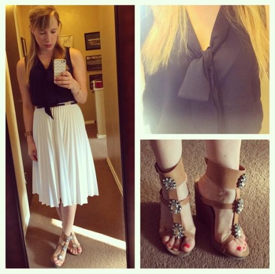 Top: Forever 21, Skirt: Vintage, Heels: ShoeDazzle