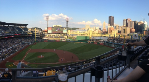 End of summer Pirates game in killer seats!