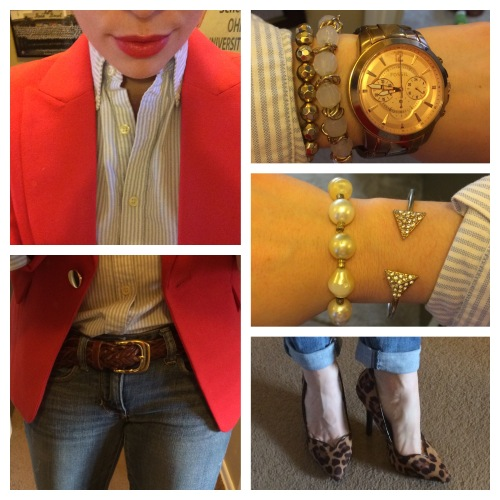 Watch: Fossil (Macy's), Bracelets: Claire's & Charlotte Russe