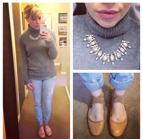 grey sweater_ballet flats_nov14