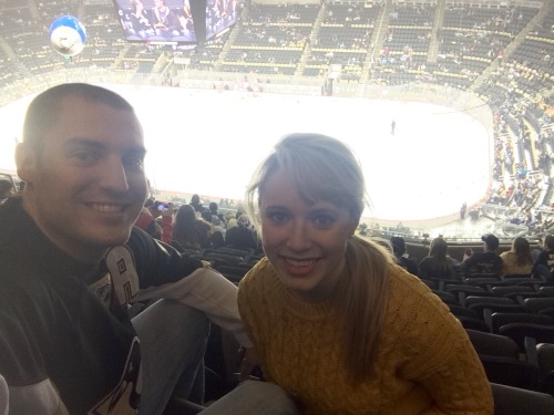 My Christmas gift to Seth was to go to a Pens game!
