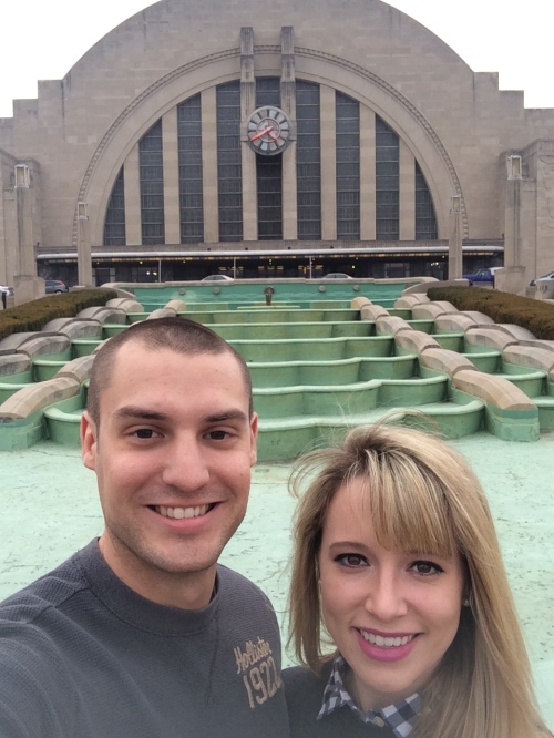Selfie outside the Cincy museum at Union Center