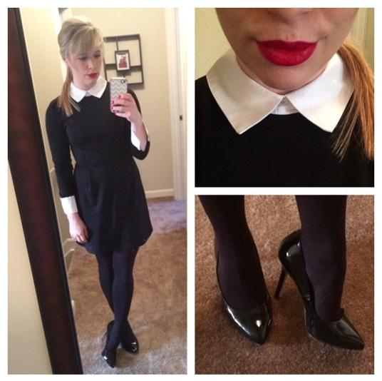 Dress: Ebay, Pumps: Jessica Simpson via 6pm.com, Lips: Urban Decay 'F-Bomb'