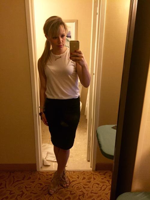 Tank: Gabes, Skirt: Old Navy, Heels: Charlotte Russe (last summer)