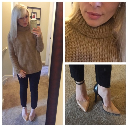 Sweater: Forever 21, Pants: Gap, Heels: BCBG via Marshall's, Lip: Anastasia Beverly Hills 'Pure Hollywood'