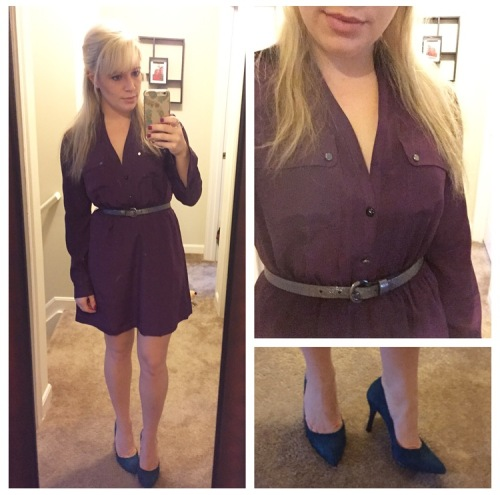 Dress: Express (via Gabes), Belt: H&M, Heels: Nine West