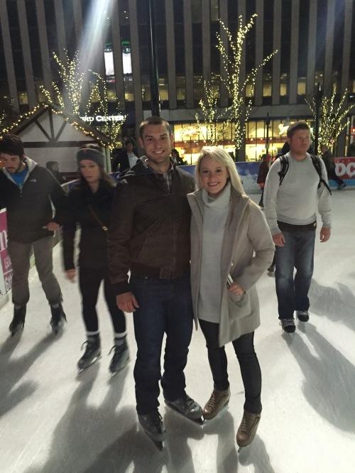 Ice skating at Fountain Square.