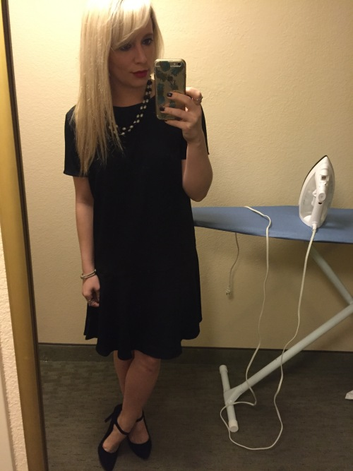 Work DinnerL Dress: Target (purchased on clearance for $12!), Heels: Jessica Simpson via DSW, Necklace: Old