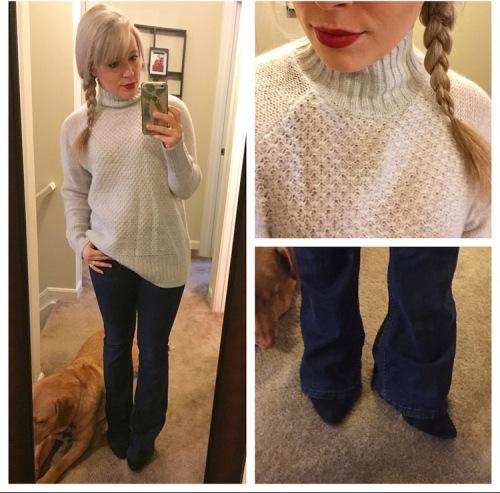 Sweater & Jeans: H&M, Lips: NARS 'Heat Wave', Pumps: BCBG