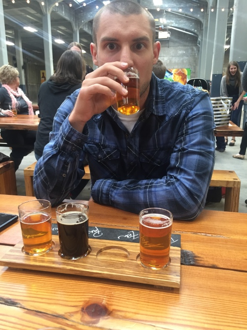 Beer flights with the hubs.
