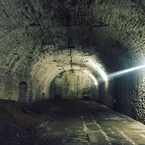 Underground tour of Cincinnati - this was a former brewing area. Underground was utilized because it was a consistent temperature year-round.