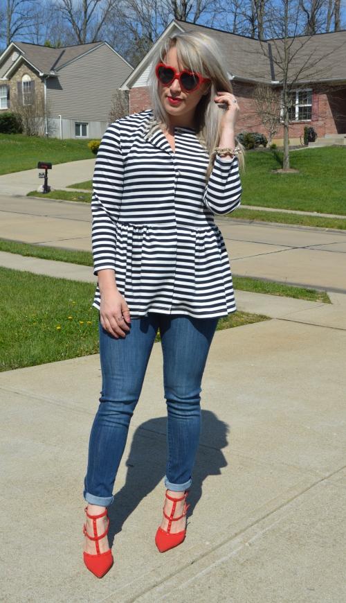 Jacket: SheIn, Jeans: H&M, Heels: GoJane, Sunnies: Norsdtrom, Bracelet: Target, Lip: Marc Jacobs