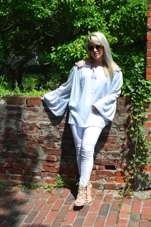 Top: SheIn, Jeans: Target, Heels: Charlotte Russe, Lip: Kat Von D Everlasting Liquid Lipstick in 'Mother'