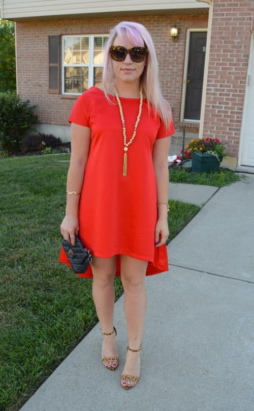 Dress: SheIn c/o, Necklace: Charlie Boutique, Bag: Gabes, Heels: Steve Madden