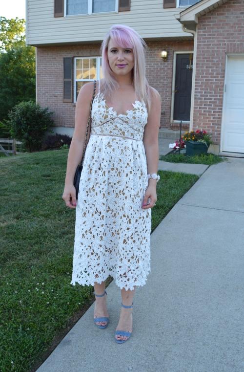 Dress: TJ Maxx, Heels: Steve Madden, Bag: Vintage, Bracelet: Francesca's