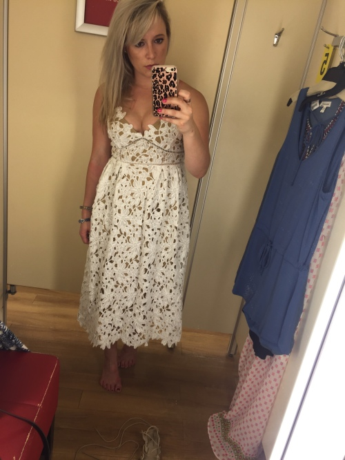 The prettiest dress at Marshall's, an insanely cute (and INSANELY AFFORDABLE) dupe of this dress you've seen on every blogger lately.