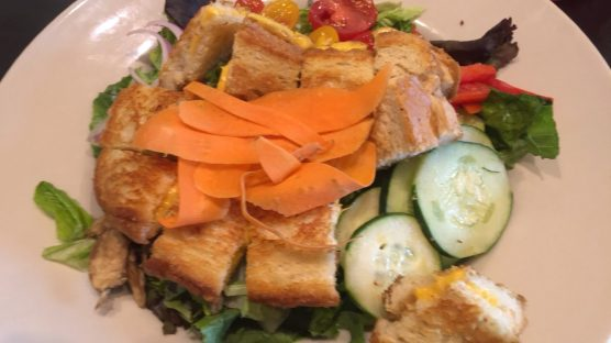 A grilled cheese salad from Cincy favorite, Tom + Chee - yes it was as amazing as it looks.
