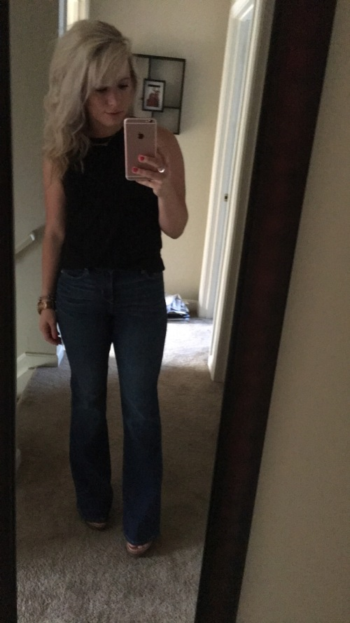 This full look coming to the blog soon - ya'll know I love a goof flared jeans.