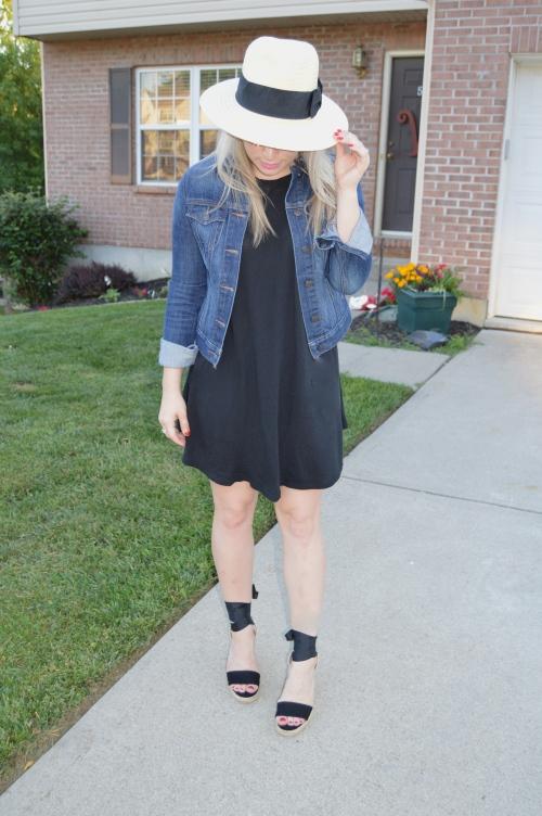 Hat: H&M, Dress: Forever 21, Jacket: Old Navy, Espadrilles: ShoeDazzle