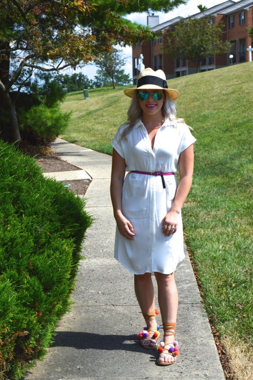 Dress & Hat: H&M, Belt: Target, Sandals: Make Me Chic c/o
