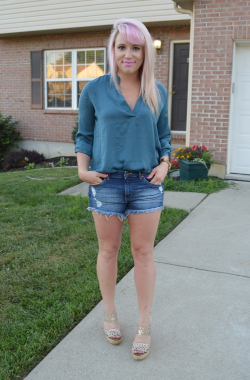 Top: Marshall's, Shorts: H&M, Wedges: Payless